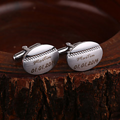 cheap Groomsmen Gifts-Zinc Alloy Cufflinks & Tie Clips Groom Groomsman Wedding Anniversary Birthday Congratulations Business