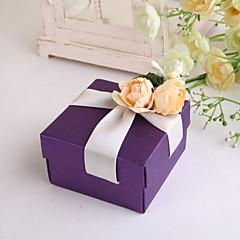 Cubóide Papel Pérola Suportes para Lembrancinhas Com Flores Tiras Caixas de Ofertas