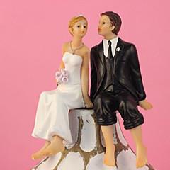 billige Kakedekorasjoner-Classic Kissing Couple Wedding Cake Topper