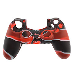 Silikoni iho Case for PS4 Controller (Black & Red)