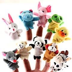 preiswerte Sales-Tier Fingerpuppen Marionetten Niedlich lieblich Tiere Für Gute-Nacht-Geschichten Niedlich Zeichentrick Textil Plüsch Mädchen Jungen