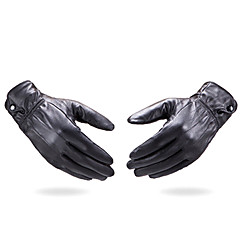 cheap Party Gloves-Leather Wrist Length Glove Party / Evening Gloves / Winter Gloves / General Purposes & Work Gloves With Buttons