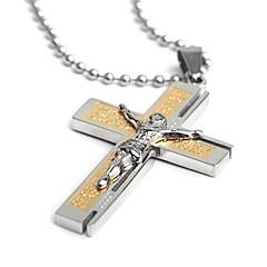 Муж. Ожерелья с подвесками Крестообразной формы Нержавеющая сталь Классика бижутерия Бижутерия Назначение Для вечеринок Повседневные Спорт