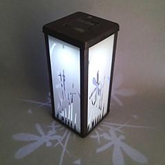 0.06W Artistic Wit Glas LED Solar Garden Light in rechthoekige Feature