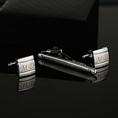 cheap Groomsmen Gifts-Zinc Alloy Cufflinks & Tie Clips Groom Groomsman Wedding Anniversary Birthday Business