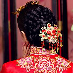 voordelige Hoofddeksels voor feesten-Stof tiaras 1 Bruiloft Feest / Uitgaan Helm