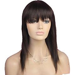 cheap Wigs & Hair Pieces-Wig Straight Wig Natural Hairline African American Wig 100% Hand Tied Women's Long Human Hair Capless Wigs
