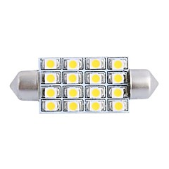 cheap Car LED Lights-42mm 4W 200LM 3000K 16x3528 SMD Warm White LED for Car Reading/License Plate/Door Lamp (DC12V, 1Pcs)