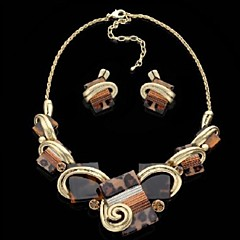 Jewelry Set Women's Birthday / Gift / Party / Daily Jewelry Sets Alloy Non Stone Earrings / Necklaces Brown