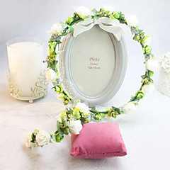 cheap Party Headpieces-Silk Headwear Wreaths with Floral 1pc Wedding Special Occasion Headpiece