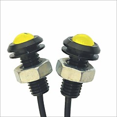 cheap Car Decoration Lights-Carking™ 12V 1.5W 18MM Auto Car Eagle Eye Yellow Rear LED Light Day Time Running Lamp-Yellow Lens
