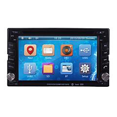 billiga DVD-spelare till bilen-6.2 tum 2 Din Windows CE 6.0 / Windows CE In-Dash DVD-spelare Inbyggd Bluetooth / GPS / iPod för Stöd / RDS / Rattstyrning / 3G (WCDMA) / Subwoofer-utgång / Spel