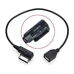 voordelige -0.2m man naar vrouw media in ami MDI usb aux flash drive adapter kabel voor auto vw audi 2014 a4 a6 q5 q7