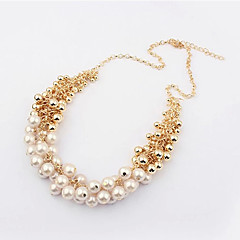 cheap Necklaces-Viva Women's Korean Vintage Pearl Statement Necklace