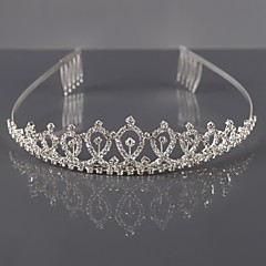 cheap Party Accessories-Alloy Tiaras / Headwear with Floral 1pc Wedding / Special Occasion Headpiece