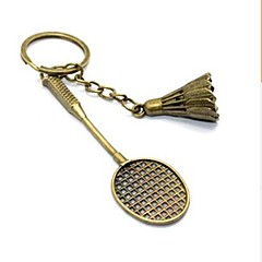 vintage badminton bronslegering sleutelhanger (1 st)