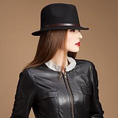 お買い得  パーティーハット-高貴なウールの女性の革ベルト付きパーティー/アウトドア/カジュアルハット(多くの色)