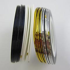 billige Negleklistremerker-100 Folie Stripping Tape Abstrakt Tegneserie Mote Høy kvalitet Daglig