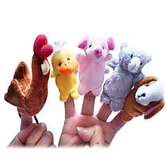 Prstová loutka Koře Kachna Psi Prase Animák Půvab Nové hračky Pro chlapce Pro dívky Textil