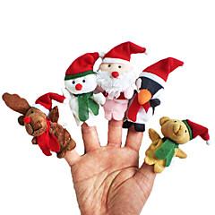 Prstová loutka Zvířata Hračky Vánoční santa obleky Elk Sněhulák Vánoce Hračky Mluvící Dívky Chlapci 5 Pieces