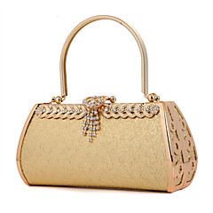 preiswerte Bags on sale-Damen Taschen Metall Abendtasche Crystal / Strass für Hochzeit Fuchsia Golden