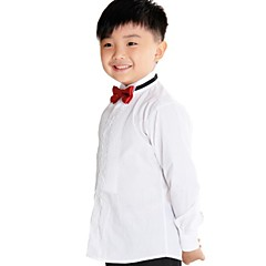 baratos Roupas de Meninos-Boy's Tuxedo Shirt  with Long Sleeves 100% Cotton(Combed Cutton) High Quality White Shirt for Kids