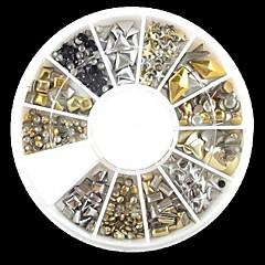 240pcs tırnak sanat karışık perçin akrilik yapay elmas (rasgele bir desen) şekiller