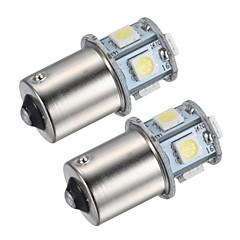 billige Baklys til bil-1156 Bil Hvit 1.5 W SMD 5050 4000-4500 Tåkelys Instrument lys Leselys Registreringsskilt Lys blinklys Bremselys Ryggelys