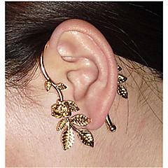 Ear Cuffs Oświadczenie Biżuteria Europejski Stop Flower Shape Rose Biżuteria Na Ślub Impreza Codzienny Casual