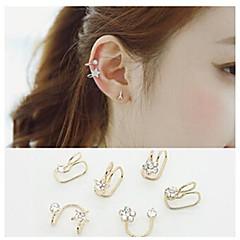 Kolczyki koła Ear Cuffs Kryształ górski Stop Circle Shape 2 3 4 5 6 Biżuteria Na Ślub Impreza Codzienny Casual