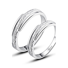 cheap Rings-Women's Couple's Statement Ring Fashion Silver Costume Jewelry Daily