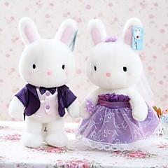 Peluches Nouveaux Jouets Nouveautés Rabbit Pluche Blanc Pour Garçons / Pour Filles