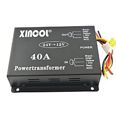 cheap Vehicle Power Inverter-Xincol® Vehicle Car DC 24V to 12V 40A Power Supply Transformer Converter with Fan Regulation-Black