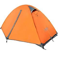 billige Telt og ly-FLYTOP 1 person Telt Dobbelt camping Tent Ett Rom Turtelt Varmeisolering Fukt-sikker Vanntett Vindtett Regn-sikker Pusteevne til Vandring
