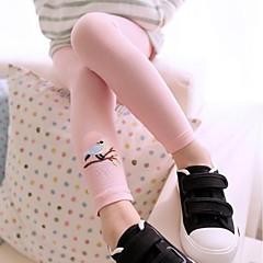 billige Bukser og leggings til piger-Baby Ensfarvet Bomuld / Polyester Leggings Gul