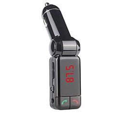 Bluetooth USB Carregador de carro dupla aux-in fm transmissor mãos livres microfone para iphone 6 6 plus 5s 4s e outros