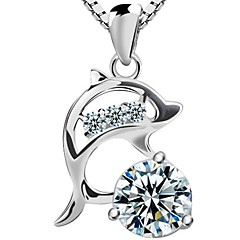 925 Sterling Silver Dolphin Necklace