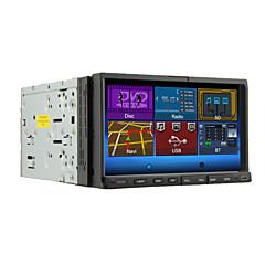 billiga DVD-spelare till bilen-7 tum 2 Din Windows CE In-Dash DVD-spelare Inbyggd Bluetooth / iPod / RDS för Stöd / Rattstyrning / Subwoofer-utgång / Pekskärm / SD / USB-stöd / DVD-R / RW
