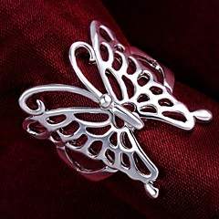 Naisten Tyylikkäät sormukset pukukorut Sterling-hopea Animal Shape Butterfly Korut Käyttötarkoitus Häät Party Päivittäin Kausaliteetti