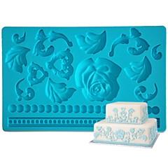 billige Bakeredskap-Bakeware verktøy Silikon Økovennlig Bursdag Kake Til Småkake Pai Bakeform 1pc