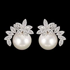 cheap Earrings-Women's Drop Earrings - Cubic Zirconia Fashion Silver For Daily / Pearl