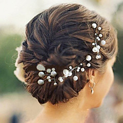 6pcs 진주 웨딩 headpieces 고전적인 여성 스타일 머리 핀
