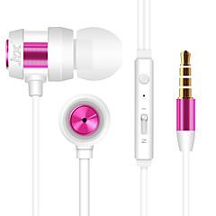 billiga Hörlurar med öronsnäckor-JTX JL-702 I öra Kabel Hörlurar Aluminum Alloy Mobiltelefon Hörlur mikrofon / Ljudisolerande headset