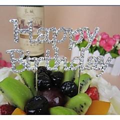 billige Kakedekorasjoner-Kakepynt Ikke-personalisert Krom Baby Fest Bursdag Sløyfe Rhinstein Sølv Klassisk Tema 1 PVC Veske