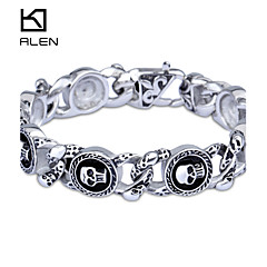 cheap Men's Jewelry-Men's Stainless Steel Skull Bracelet - Personalized Vintage Party Screen Color Bracelet For Christmas Gifts
