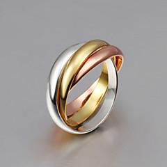levne -Dámské Široké prsteny Třásně crossover Módní bižuterie Stříbro Pozlacené Růže pozlacená Šperky Pro Svatební Párty Denní Ležérní