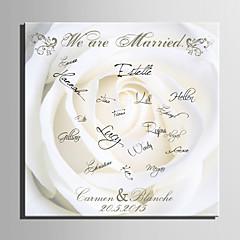 E-HOME® Personalized Signature Canvas Frame-The White Rose