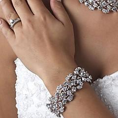 Pulseiras Amuleto Prateada/Liga Diamante/Cristal Casais/Mulheres
