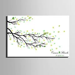 E-HOME® Personalized Fingerprint Painting Canvas Prints - Fallen Leaves (Includes 12 Ink Colors)