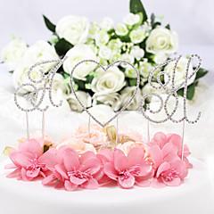 billige Kakedekorasjoner-Kakepynt Ikke-personalisert Monogram Krom Bryllup / Jubileum / Bridal Shower / Baby Shower / 15- og 16-års bursdag / Bursdag Rhinestone
